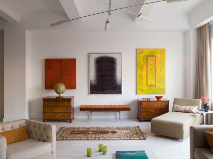 wohnzimmereinrichtungen beispiele farben passend kombinieren