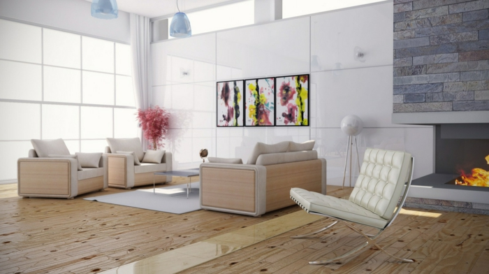 wanddeko wohnzimmer ideen – Dumss.com