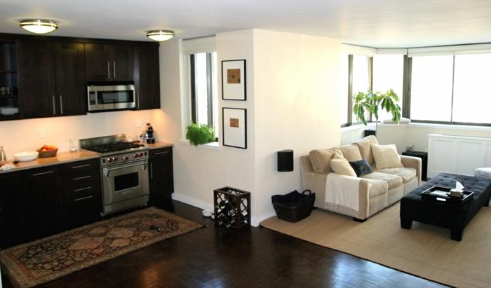 wohnzimmereinrichtung ideen offener wohnplan stilvoll funktional