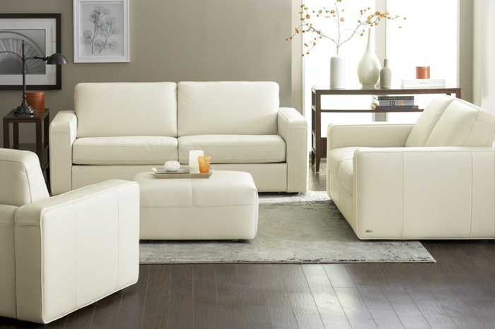 wohnzimmereinrichtung ideen weißes mobiliar dekoration