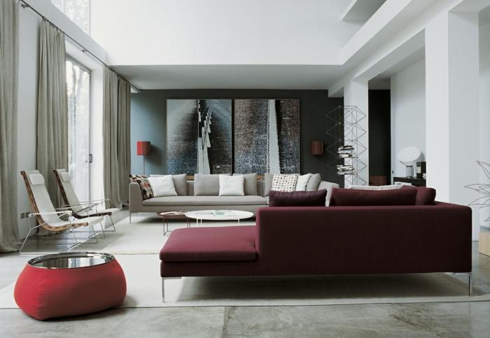 wohnzimmereinrichtungen prachtvolle ideen f r das. Black Bedroom Furniture Sets. Home Design Ideas