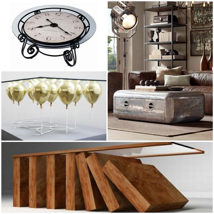 originelle ideen f r ihren wohnzimmertisch. Black Bedroom Furniture Sets. Home Design Ideas