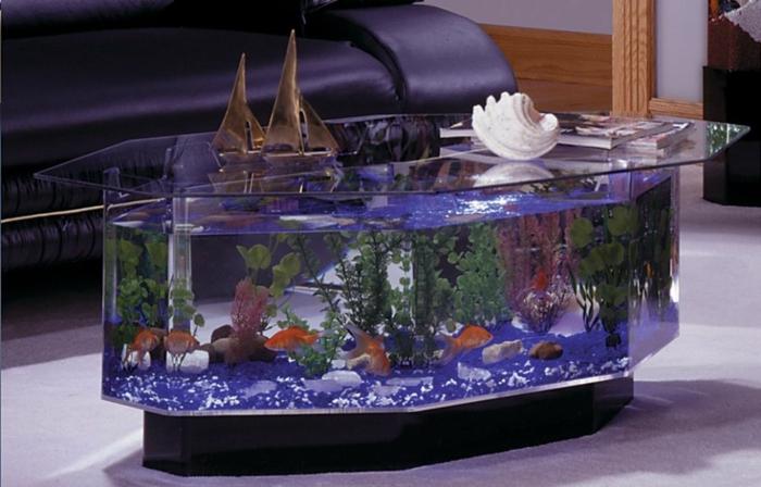 Originelle ideen f r ihren wohnzimmertisch for Aquarium wohnzimmertisch