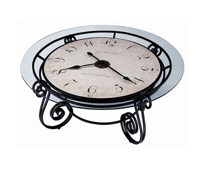 Wohnzimmertisch Couchtisch Beistelltisch Antike Uhr Iroonie Com