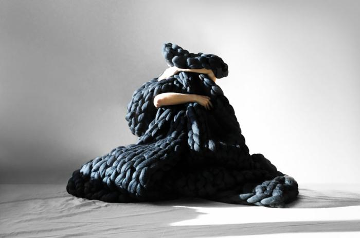 kuschelweiche wolldecken die mit ihrer kreativit t. Black Bedroom Furniture Sets. Home Design Ideas
