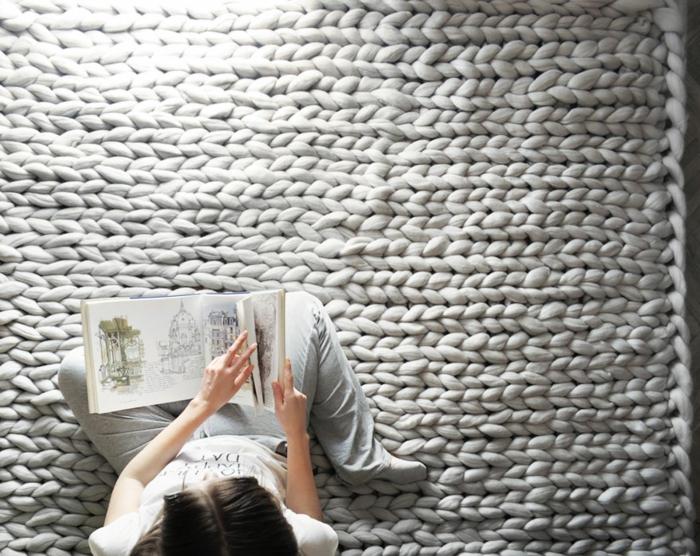 wolldecken strickarbeit tagesdecke teppich