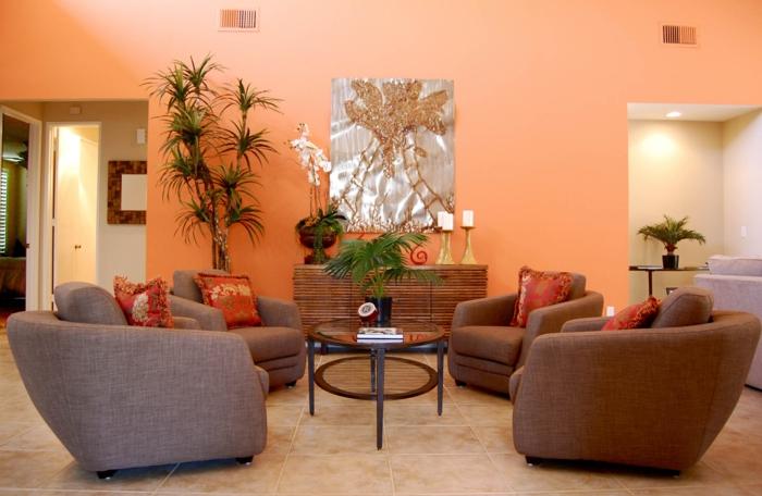 Zimmerfarben was verraten diese ber unsere pers nlichkeit - Orange wandfarbe ...