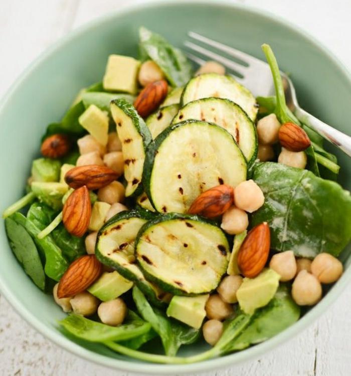 zucchini salat rezepte zucchini gegrillt mit mandeln