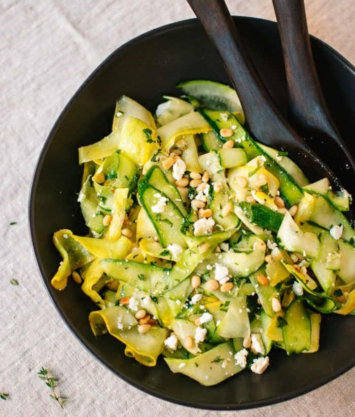 zucchini salat rezepte zucchini in der pfanne