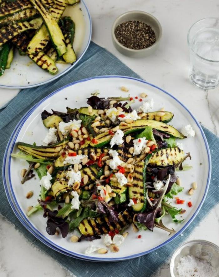 zucchini salat rezepte zuchini und auberginen gegrillt