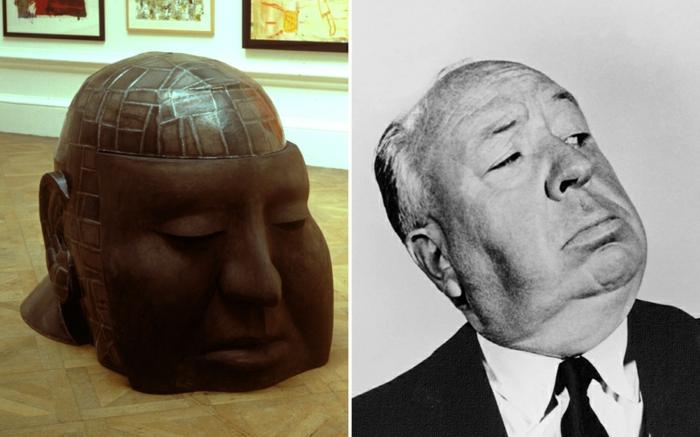 Alfred Hitchcock statue und bild prominews