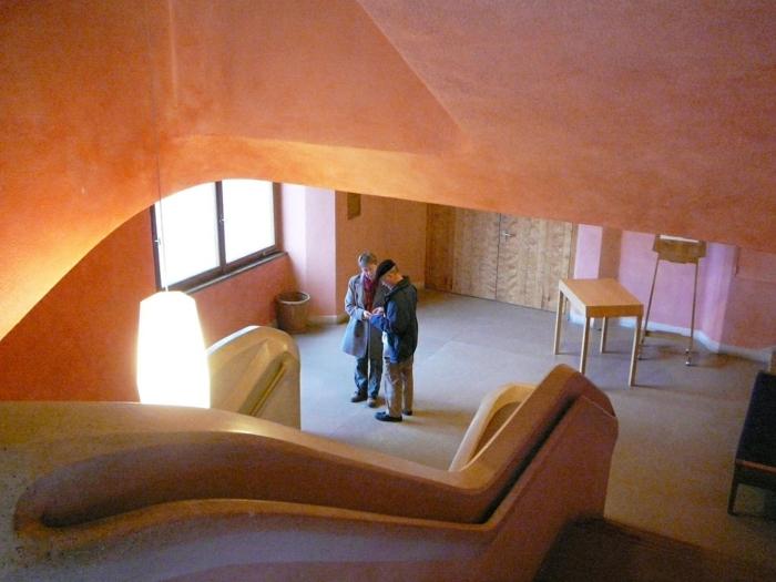 Anthroposophische Architektur steiner goetheanum treppenhaus