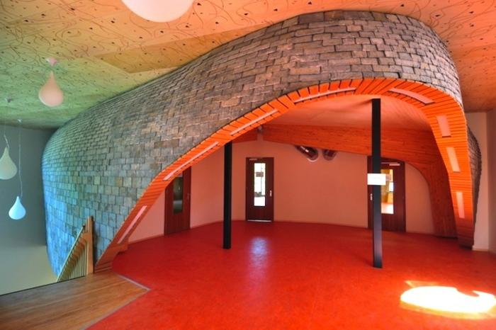 Anthroposophische Architektur waldorf schule eongang
