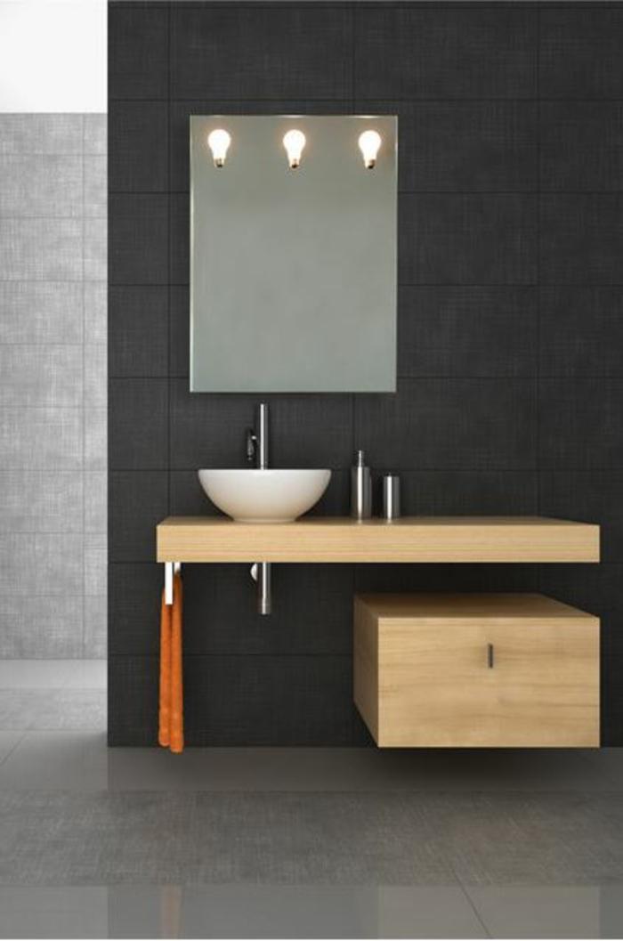 Badezimmer Spiegel Ideen Holz