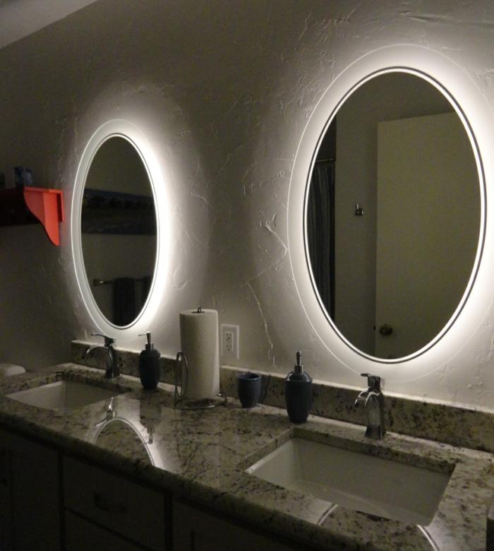 Badezimmer Spiegel Ideen Kreis