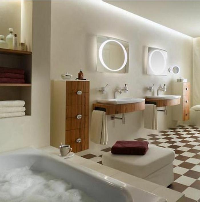 Badezimmer Spiegel Ideen Schach Brett