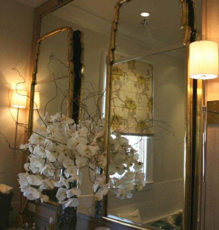 Badezimmer Spiegel goldrahmen