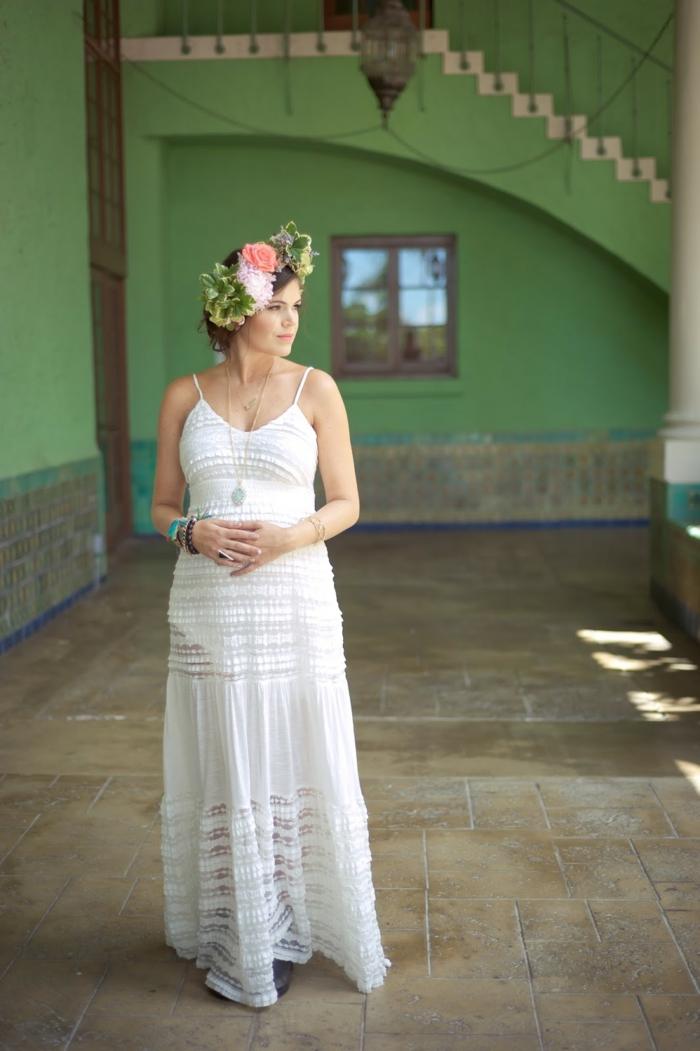 Brautkleider für Schwangere baumwolle weiss