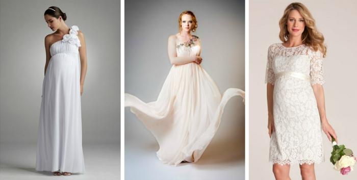 Brautkleid für Schwangere drei
