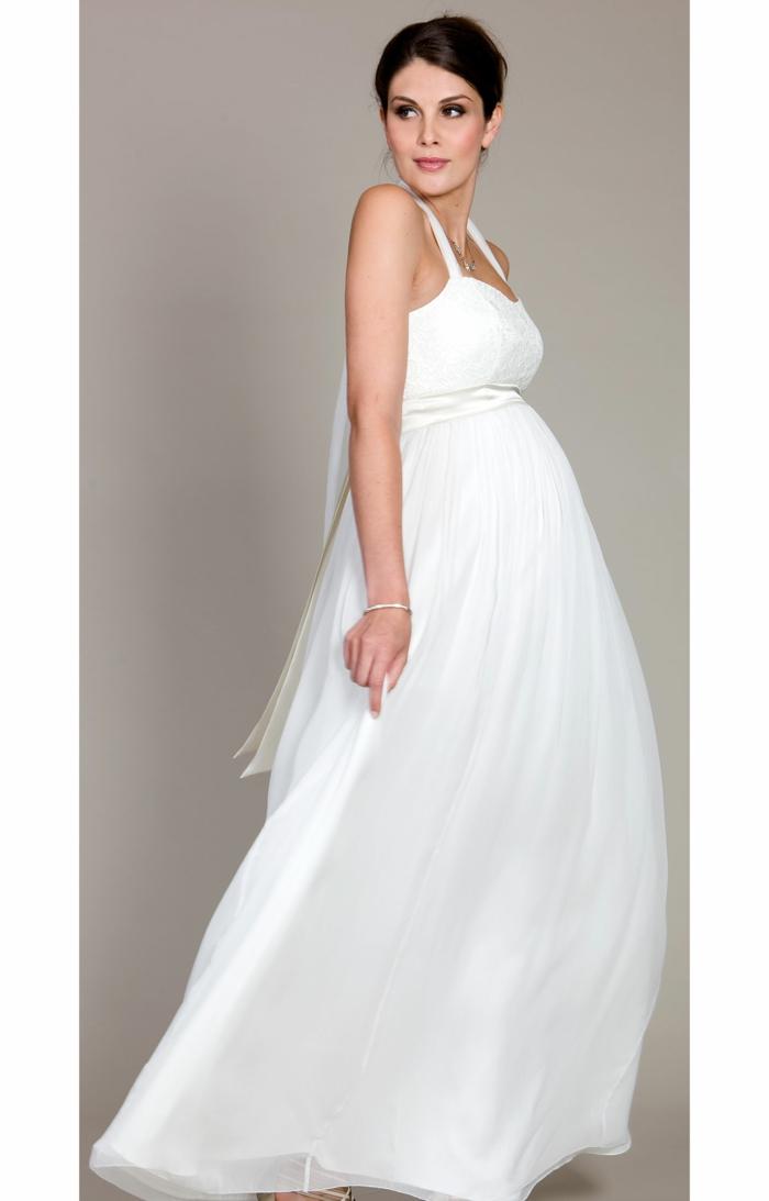 Brautkleid für Schwangere tailliert frei
