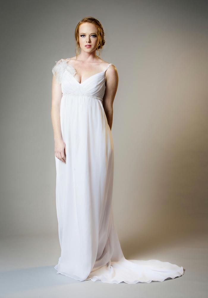 Brautkleider für Schwangere tailliert schnur legere