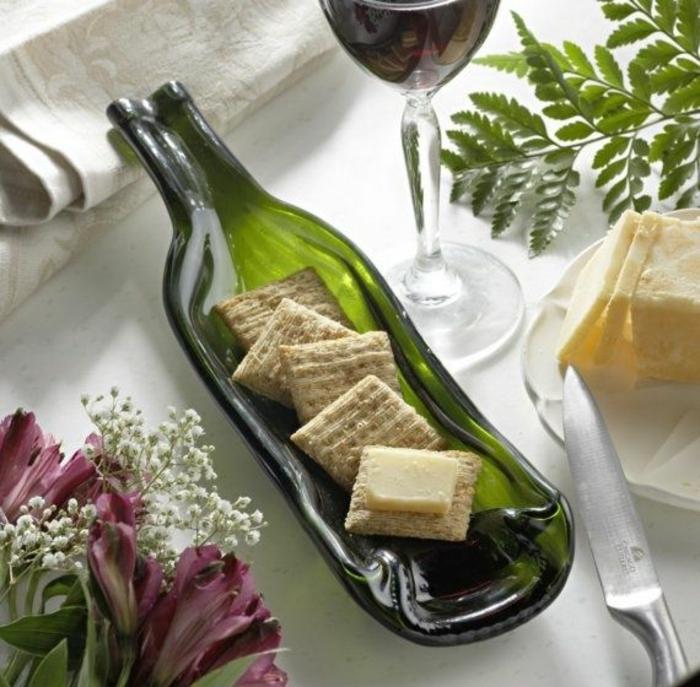 DIY Deko mit glasflaschen bastelideen tisch decken glas schale