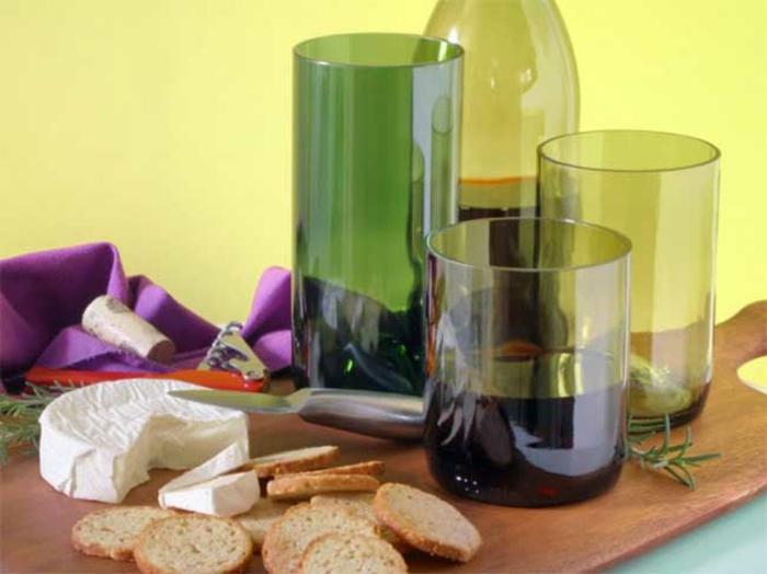 DIY Deko mit glasflaschen bastelideen weingläser selber machen