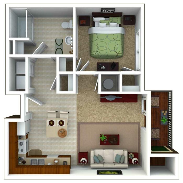 Einrichtungsbeispiele Wohnung Planung