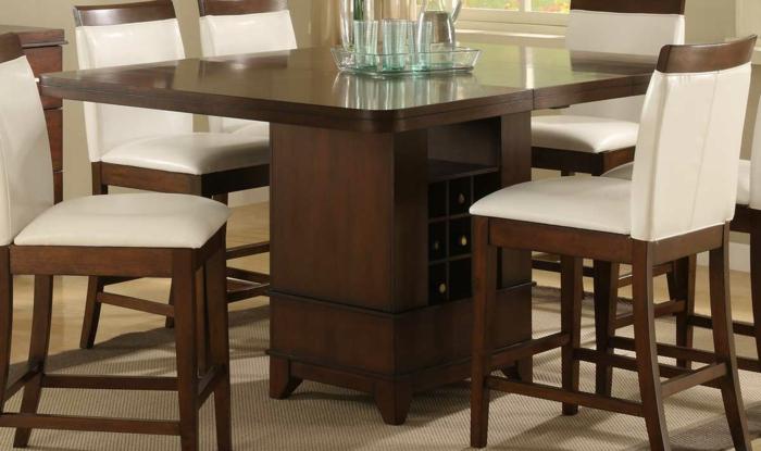 platzsparende Möbel Esszimmer modern Wohnküche Esszimmermöbel Im Tisch untertisch