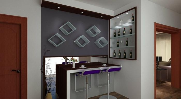 platzsparende Möbel Esszimmer modern Wohnküche Esszimmermöbel aufbewahrung design