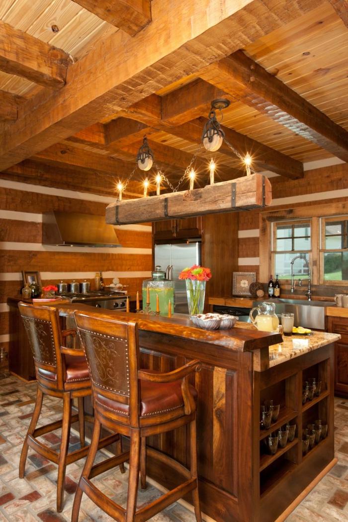 15 platzsparende m bel f r die modernen esszimmer und for Log cabin kitchens and baths
