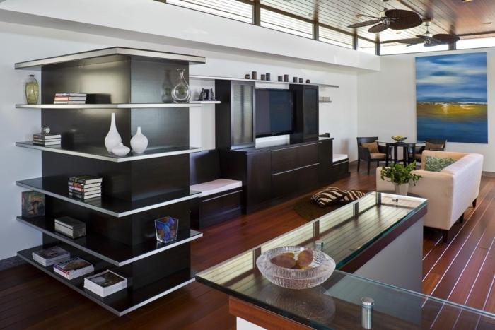 platzsparende Möbel Esszimmer modern Wohnküche Esszimmermöbel kombi schrank