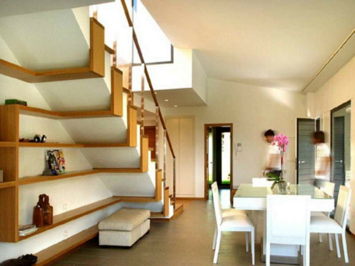 platzsparende Möbel Esszimmer modern Wohnküche Esszimmermöbel kombi system