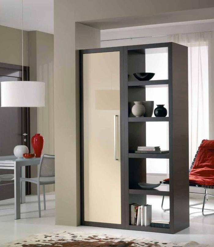 platzsparende Möbel Esszimmer modern Wohnküche Esszimmermöbel raumtrenner schiebe tür
