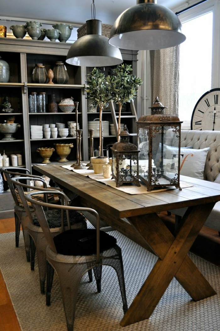 platzsparende Möbel Esszimmer modern Wohnküche Esszimmermöbel robust stabil