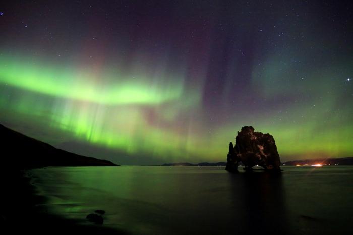 Feen-und Elfen auf Island 13 stunden sonnen untergang
