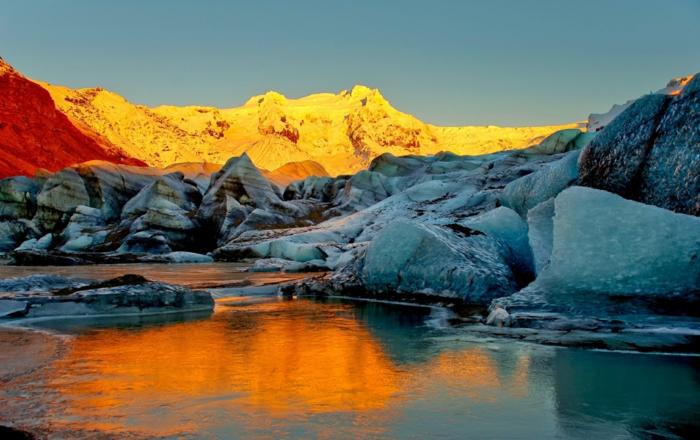 Feen und Elfen auf Island gletscher