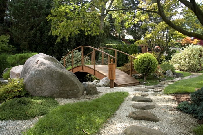 Feng Shui Garten brücke
