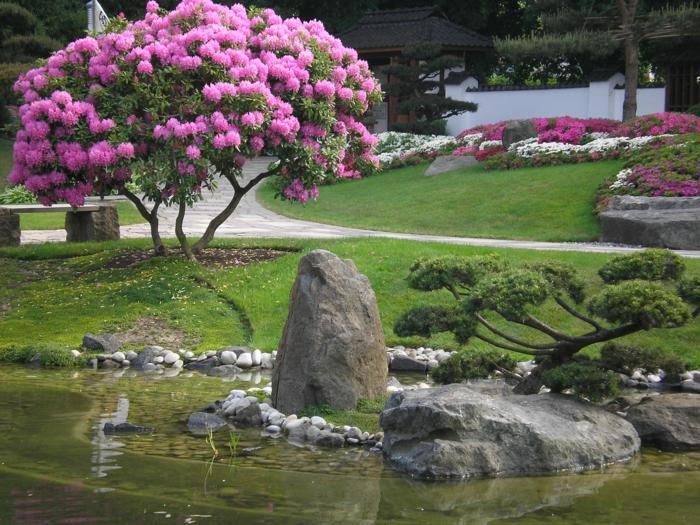 Feng Shui Garten kirsch blütten