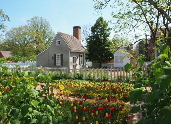 Garten und Landschaftsbau ansichts tulpen haus