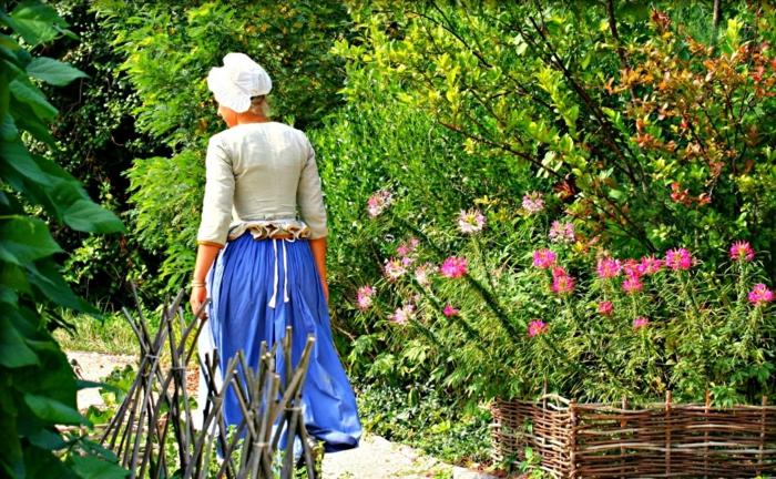 Garten und Landschaftsbau ansicht Frau