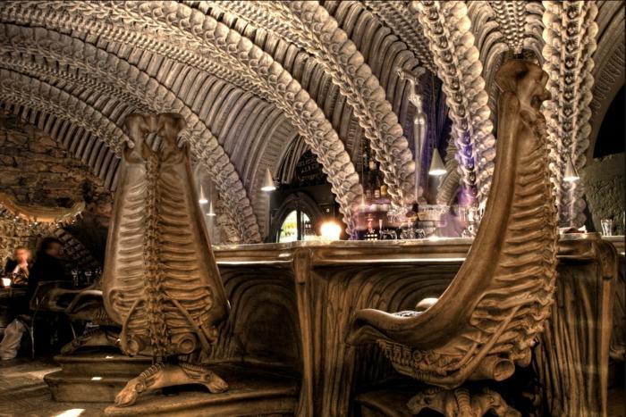Giger Museum alien fragment giger bar