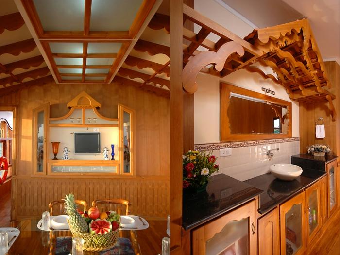 Haus boot Kerala von Innen