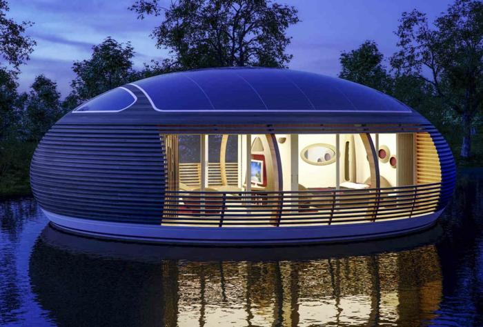 Haus boot futuristisch