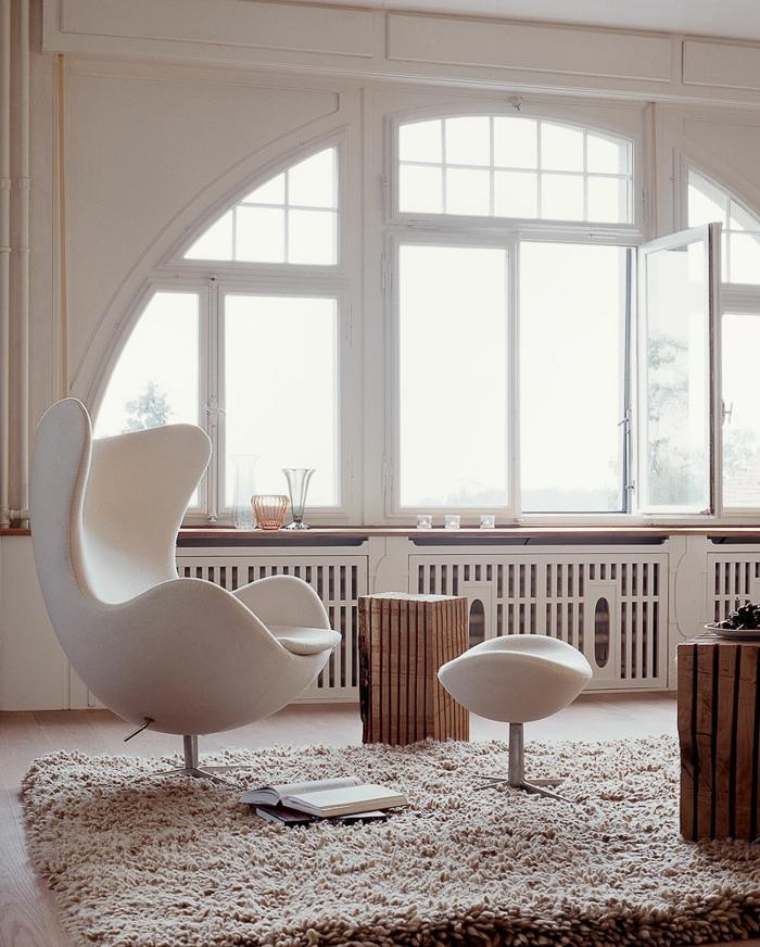 House G6 zürich loft wohnung industrial möbel egg chair