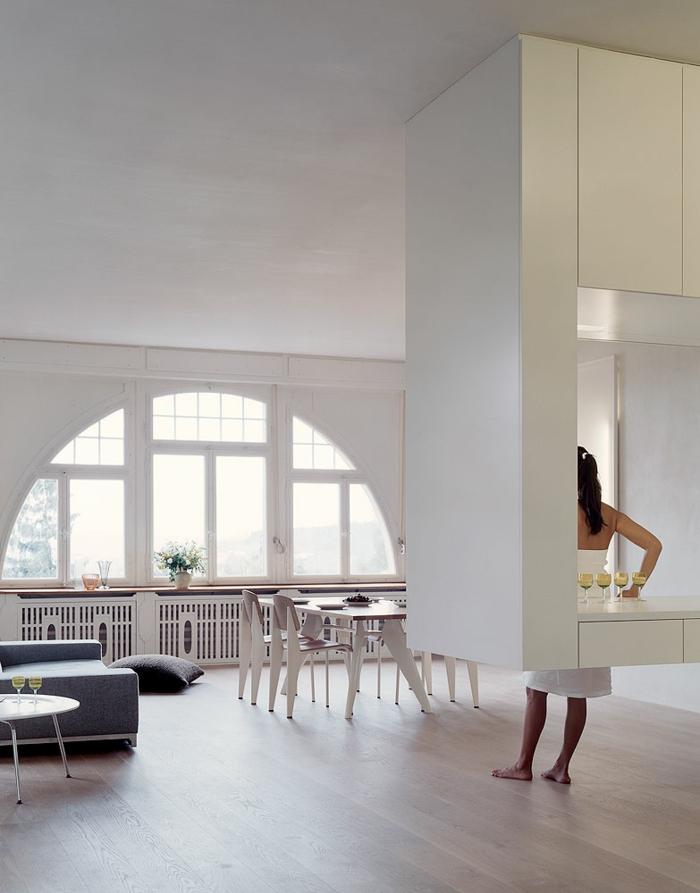 House G6 zürich loft wohnung industrial möbel hohe zimmerdecke