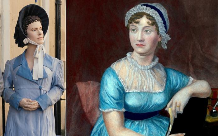 Jane Austen statue wachsstatue prominews