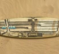 Australischer Künstler Jarryn Dower benutzt Surfbrett als Leinwand