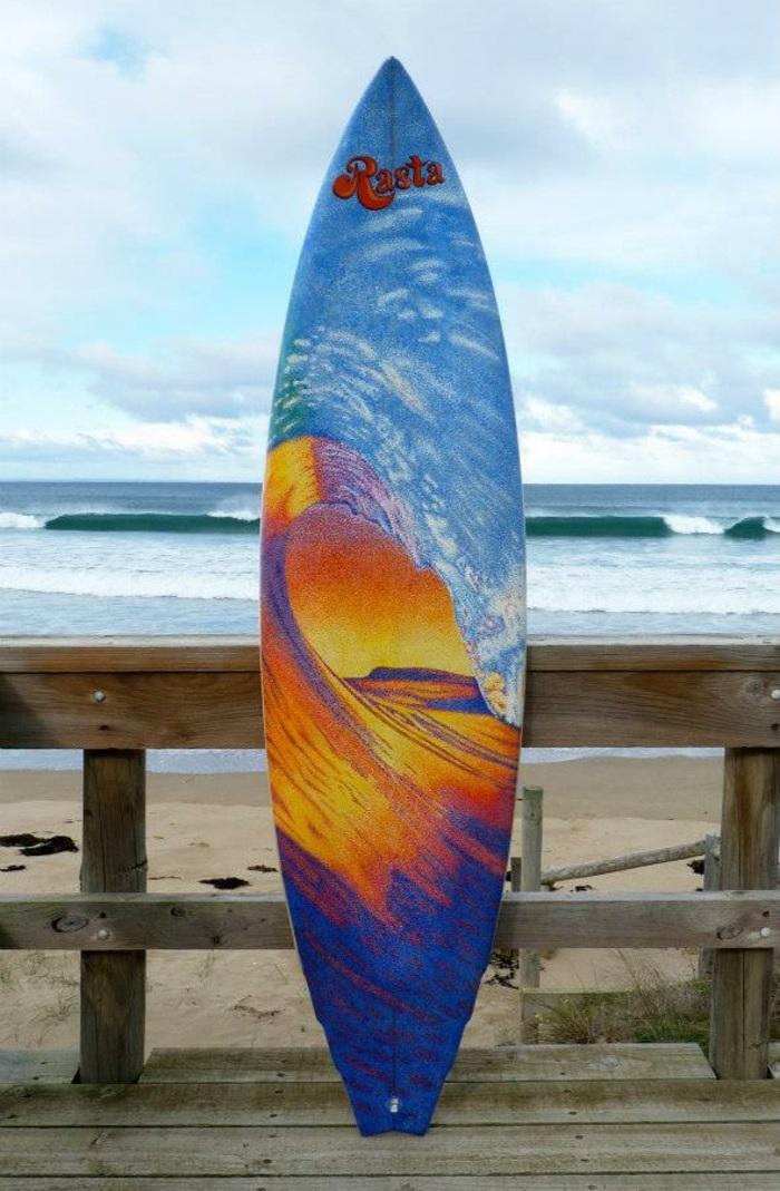 Jarryn Dower Art&Design alte surf brette bemalen wellen