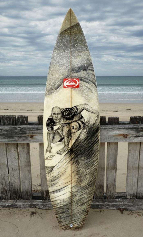 Jarryn Dower Art&Design altes surfbrett bemalen